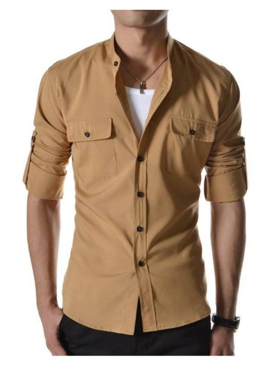 Stylish chocolate casual shirt buy casual men shirts in for Where to buy casual dress shirts