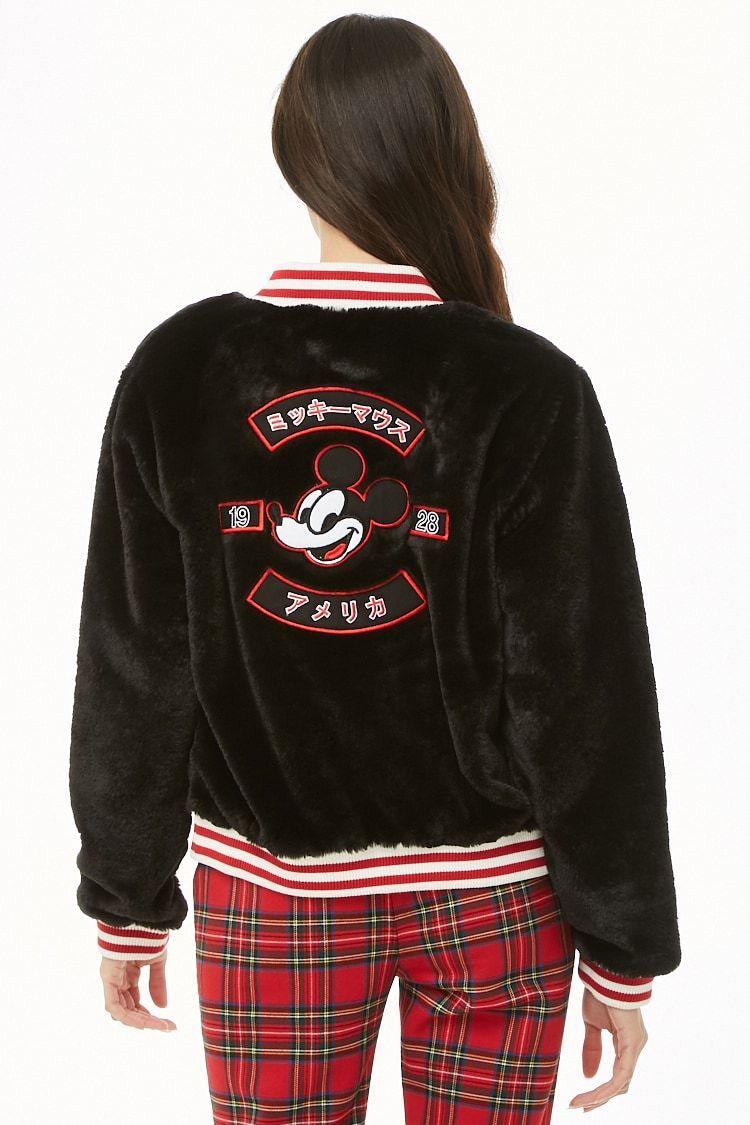 Mickey Mouse Faux Fur Varsity Jacket Varsity Jacket Outerwear Jackets [ 1125 x 750 Pixel ]