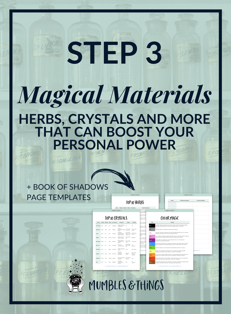 Introduction To Magic Materials Witchy Things Pinterest