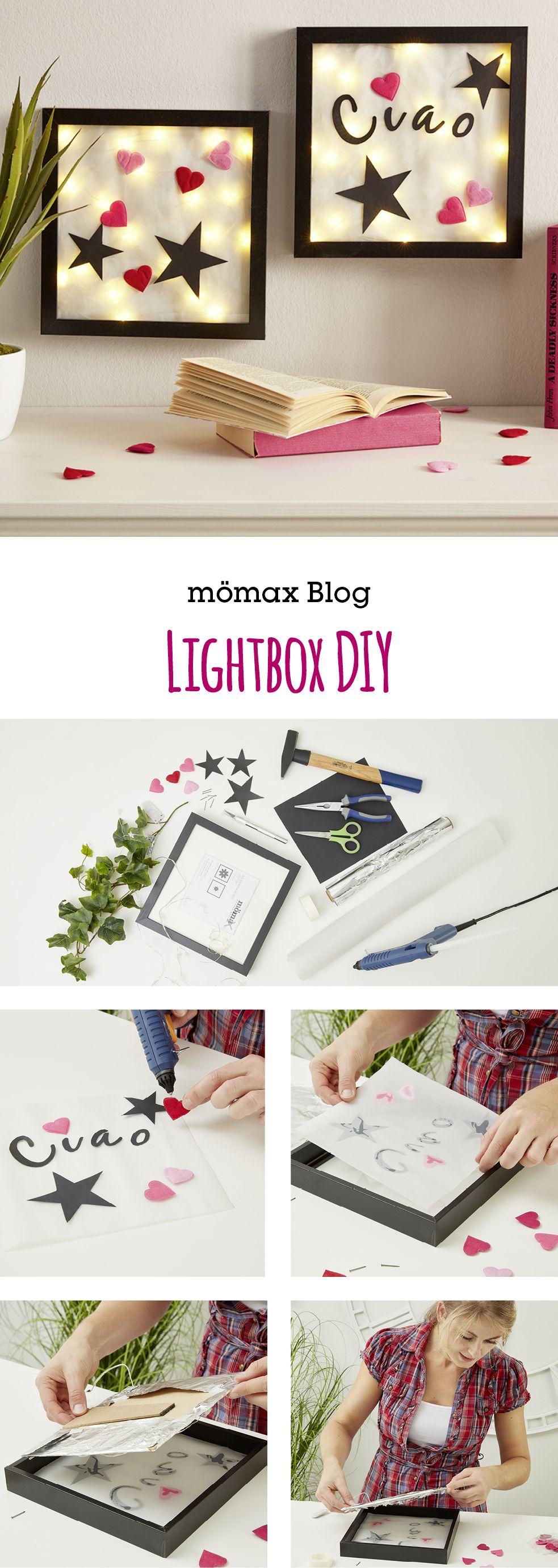 Beleuchteter Bilderrahmen oder Lightbox - Anleitung  -  Diese so genannten 3D-Bilderrahmen liegen zur Zeit voll im Trend und lassen sich mit ein paar einfachen Handgriffen ganz leicht selber basteln.
