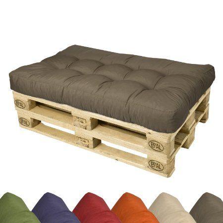 Euro Pallet Cushion Seat Pad Foam Outdoor Garden Bench Indoor Sofa 120x80x15cm