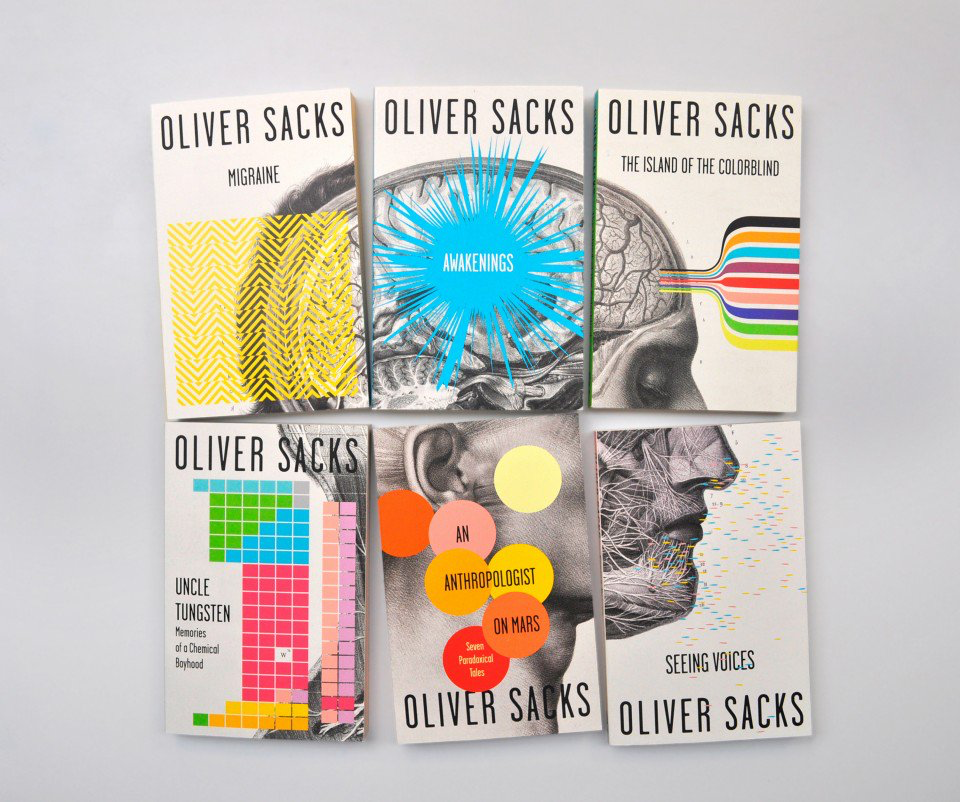 Portadas de libros de Oliver Sachs, por Cardon Webb.