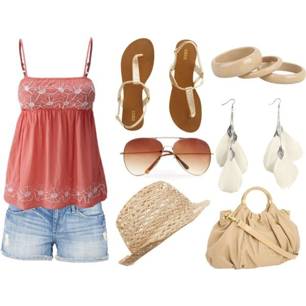 cute summer outfit, created by lynbo216 on Polyvore