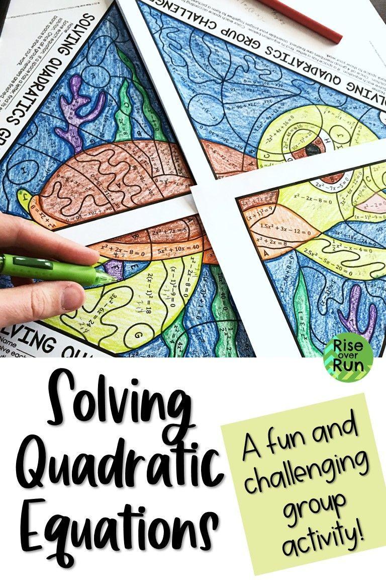 Solving Quadratic Equations Practice Group Activity Quadratics Solving Quadratic Equations Solving Quadratics [ 1152 x 768 Pixel ]