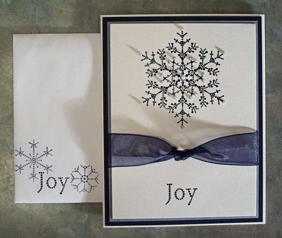 Embossed Handmade Christmas Card Stampin Up The Snowflake Spot