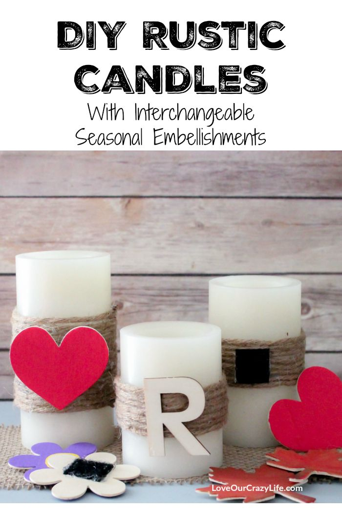 DIY Rustic Candles (With Detachable Embellishments). Diy Rustic CandlesHome  Decor ItemsGrandparent ...