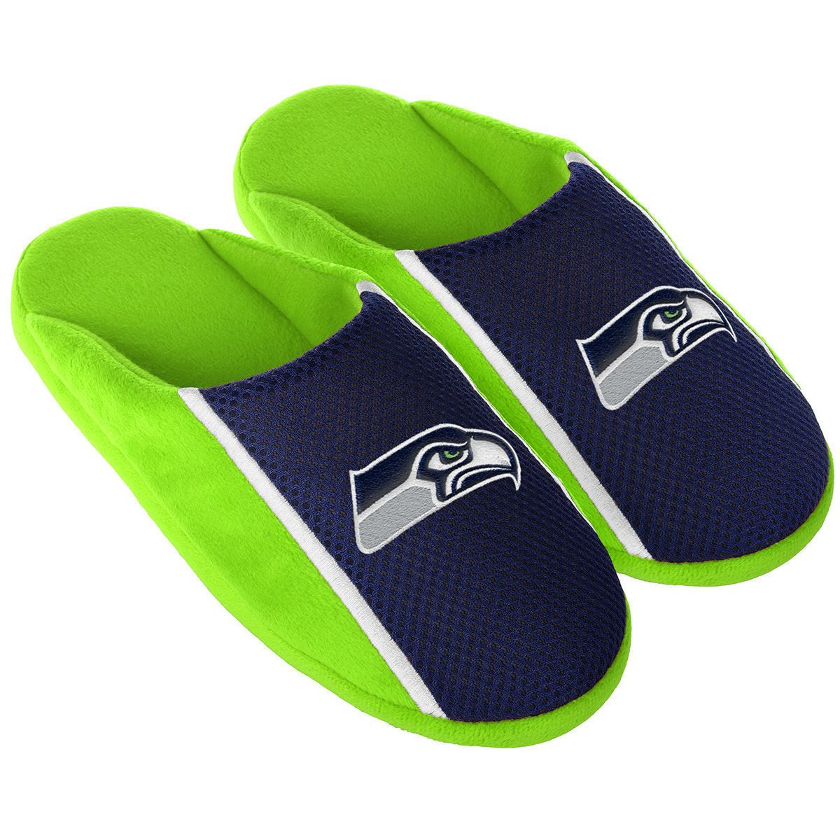 ea10190673ce Slippers 163550  Pair Seattle Seahawks Jersey Slide Slippers - Team Color  House Shoes Jrs16 Style -  BUY IT NOW ONLY   15.25 on  eBay  slippers   seattle ...