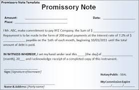 Image Result For Promissory Note Canada Template Free  Legal
