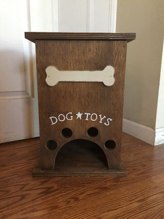 Primitive Dog Toy Storage Box With Bone Diy Toy Storage Dog Toy