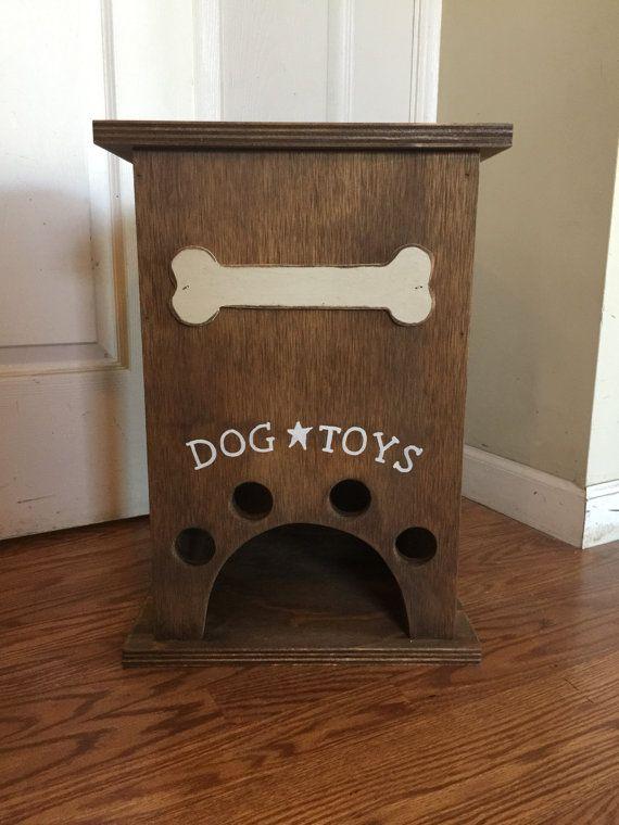 Primitive Dog Toy Storage Box With Bone By RDPrimitiveHomeDecor