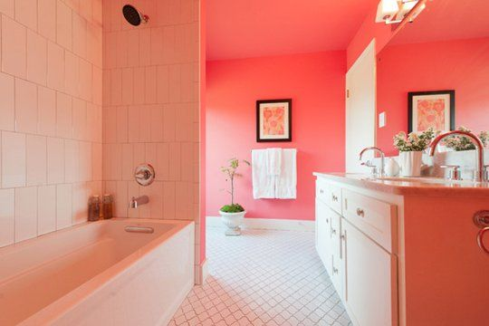 Paint Color Portfolio Coral Bathrooms Color Bathroom Design