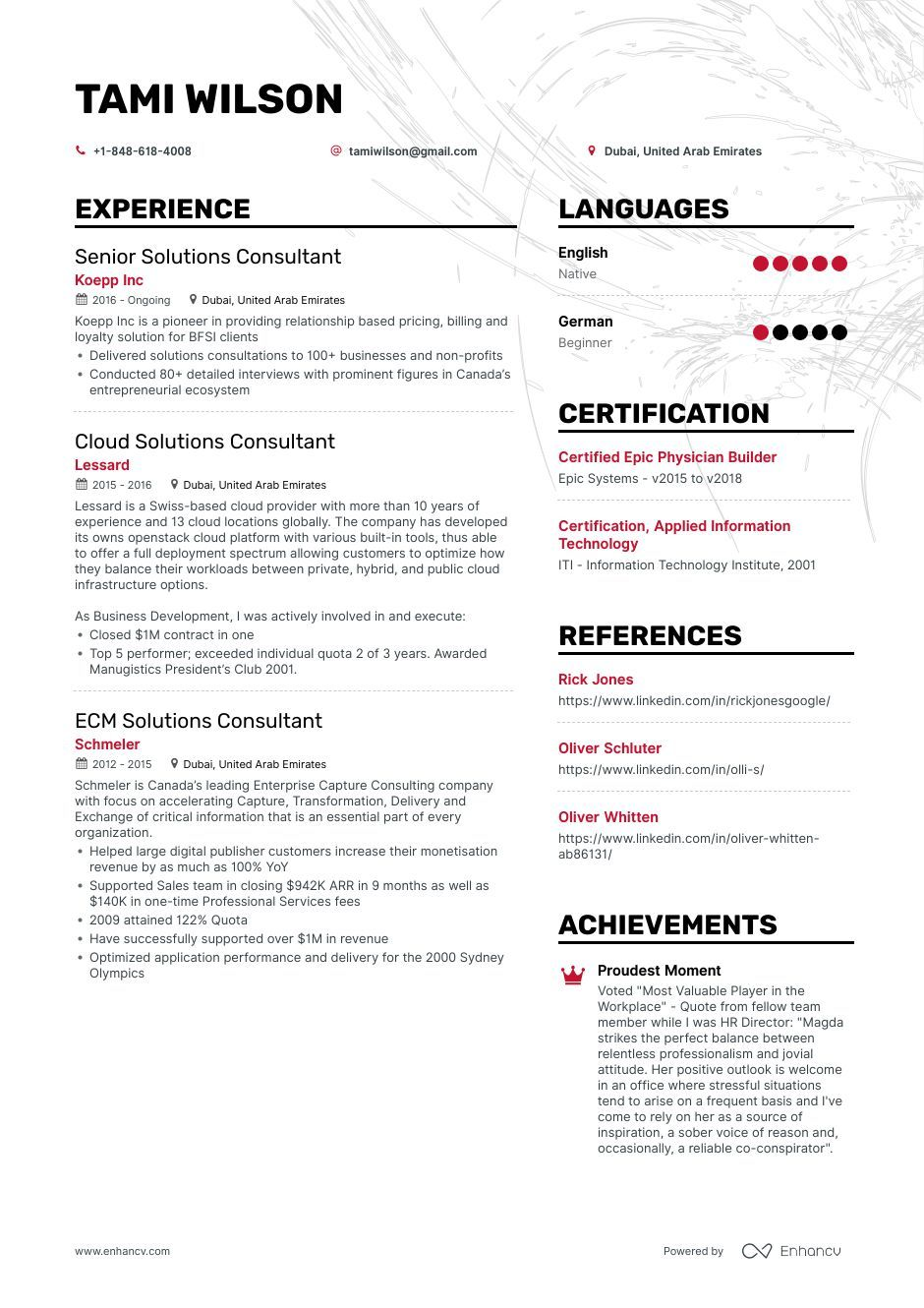 Solutions Consultant Resume Example And Guide For 2019 Resume Examples Senior Solutions Resume