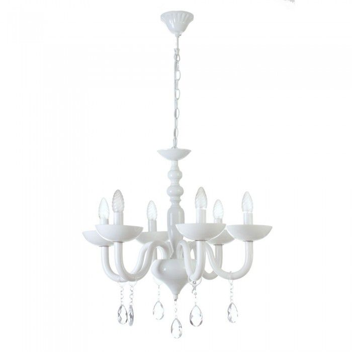 L mpara ara a blanca decoracion pinterest reduce - Lamparas arana modernas ...