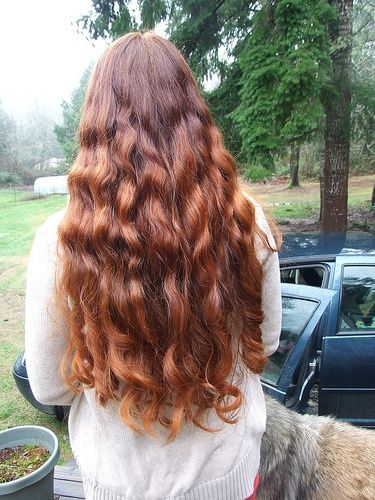 Exquisite auburn wavy hair