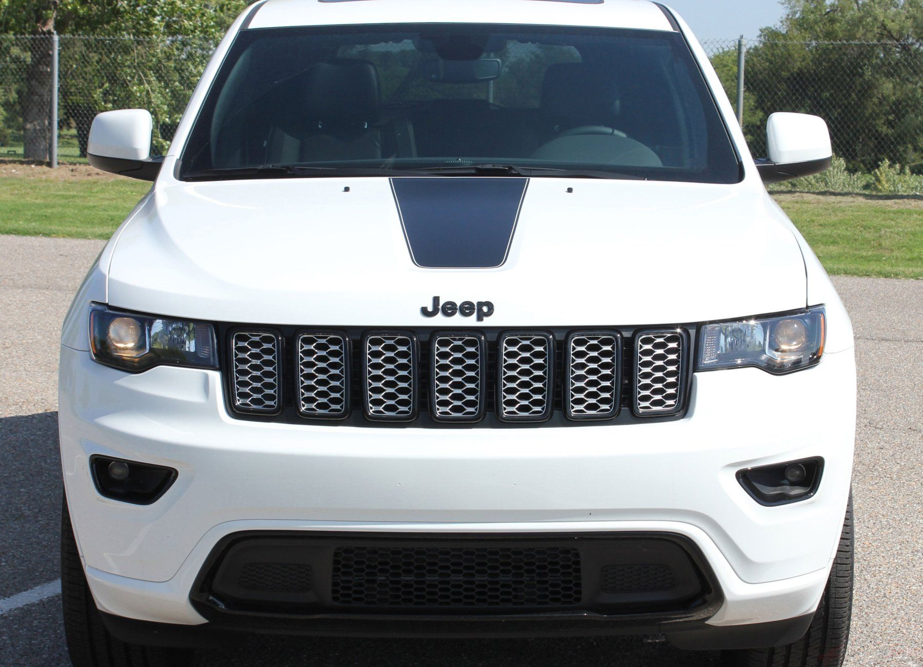 2011 2020 Jeep Grand Cherokee Hood Decal Pathway Center Blackout Vinyl Graphic Stripes Jeep Grand Cherokee Jeep Cherokee Accessories Jeep Grand
