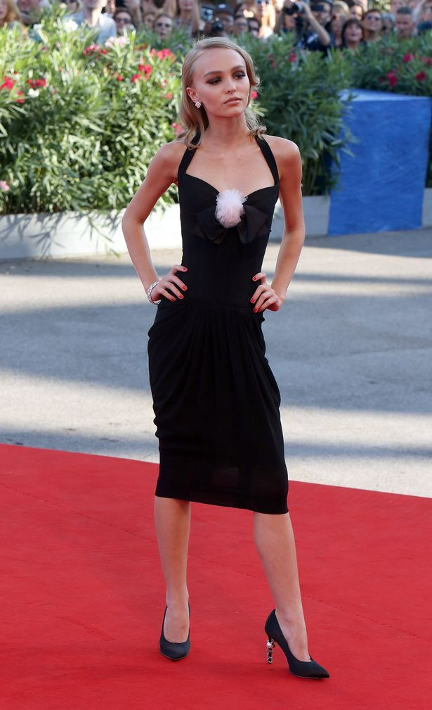 Lily Rose had perfected her pose for the red carpet at the Venice Film Festival