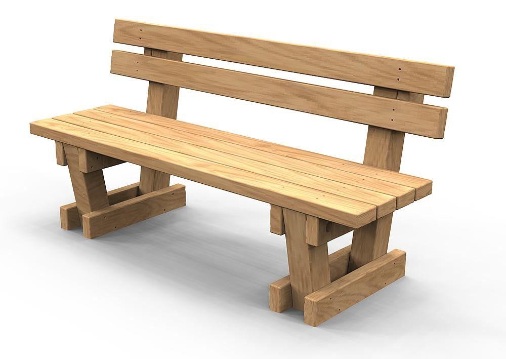 19 Planos de bancas de madera