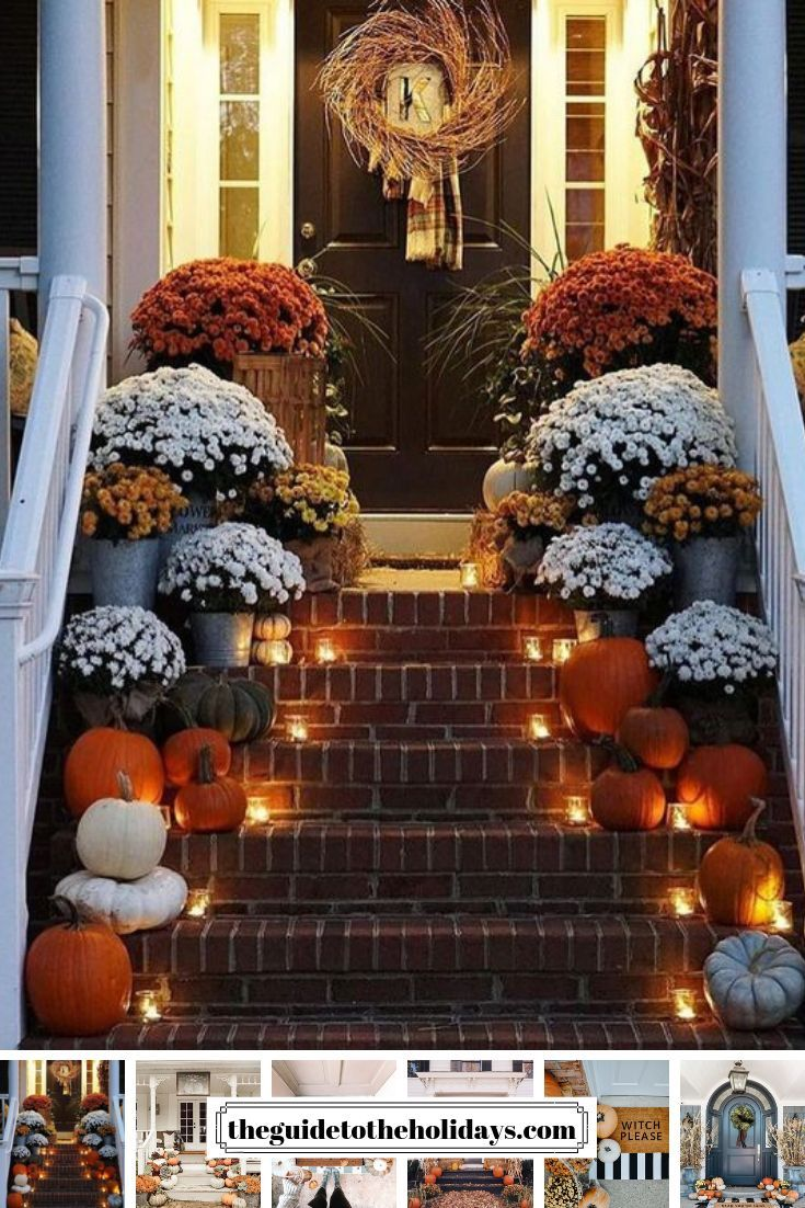 These Cute Fall Porch Ideas Are Guaranteed To Look Stunning From Memorable Doormats To Beautiful S Fall Decorations Porch Fall Outdoor Decor Autumn Decorating