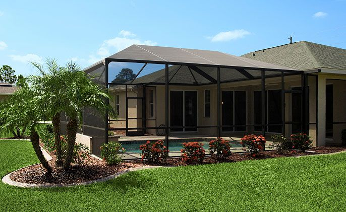 Tampa Screen Rooms Pool Enclosures Sun Rooms Landscaping Around Pool Backyard Pool Pool Screen Enclosure