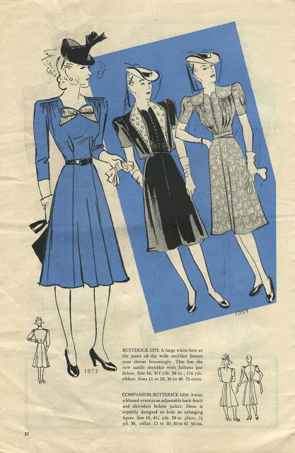 More Forties Inspired Flair: NewVintageLady: Catalog Sunday, August 1940. Click Through