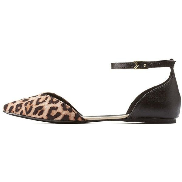 3da46ca6b67 Charlotte Russe Classic Leopard Qupid Leopard Print Pointed Toe... ( 25) ❤  liked on Polyvore featuring shoes