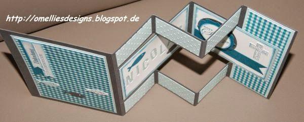 omellie's designs: tri shutter card als einladung zur konfirmation, Einladung