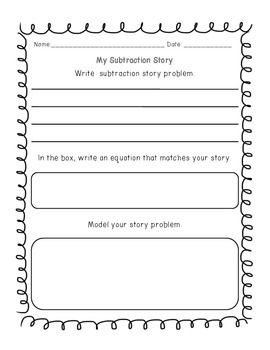 addition subtraction write a word problem worksheet math for first grade math story. Black Bedroom Furniture Sets. Home Design Ideas