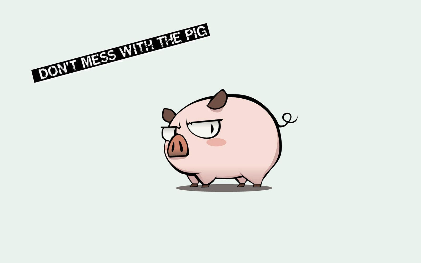 A4 Poster Don T Mess With The Pig Picture Print Funny Animal Comic Art Pig Wallpaper Pig Cartoon Cute Pigs