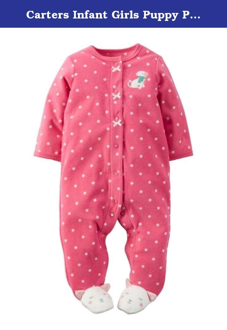 0a296df69 Carters Infant Girls Puppy Pink Dot Micro Fleece Sleeper …