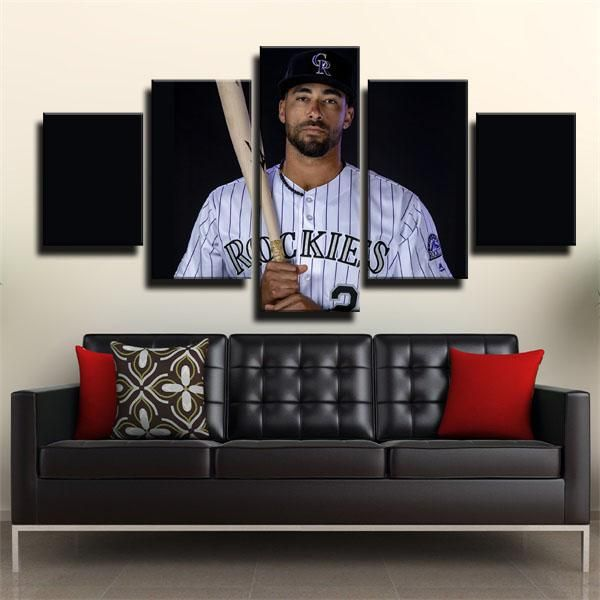Shopping perfect MLB colorado rockies ian desmond black picture hanging wall from glcanvasprints.com now!Colorfully improve your wall today with canvas picture decor you love that won't break the bank, hang your framed art prints in anywhere blank walls aren't welcome.This home art ideas for colorado rockies fans,you can find more ian desmond creative picture hanging from our site.#homedecor #glcanvasprints #artdesign #iandesmond #coloradorockies