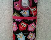 iPhone , iPod Touch, smart phone Docking Station /  wall Socket Holder / cell phone charger holder**Sleepy Owl**