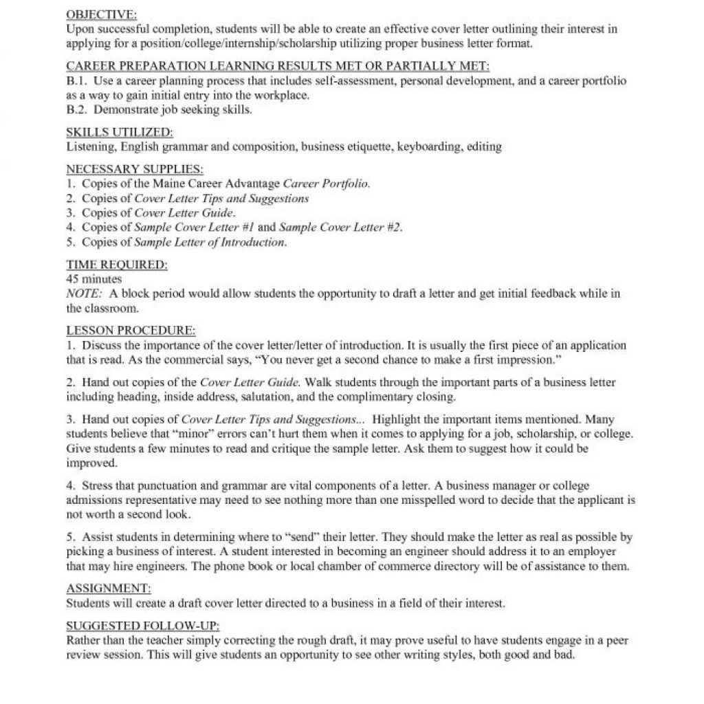 Best Introduction Letter For Resume Format Writing  Home Design