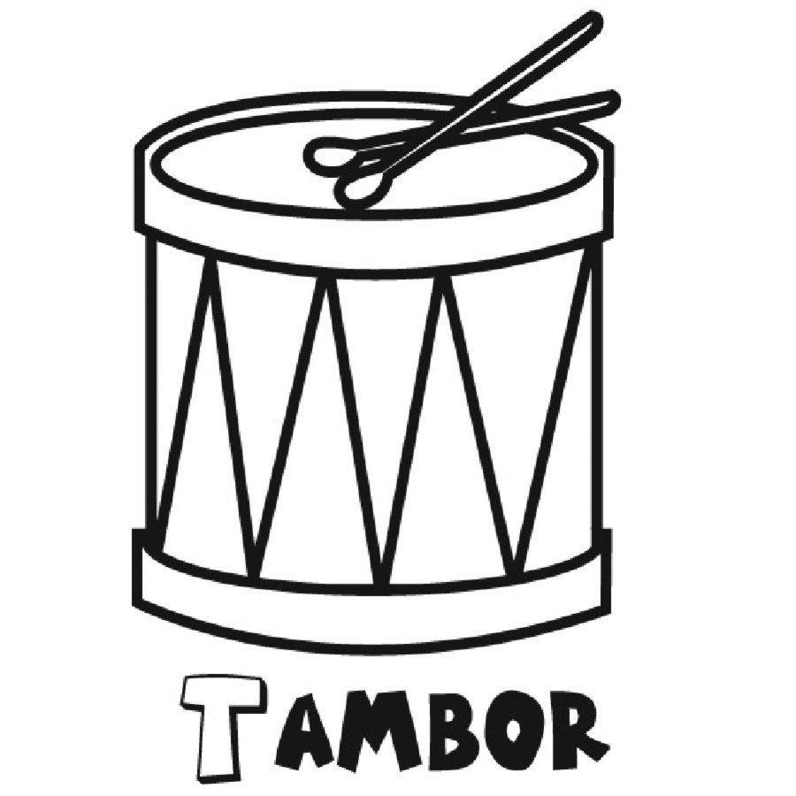 Resultado De Imagen De Tambor Colorear Dibujos De Instrumentos Musicales Instrumentos Musicales De Percusion Tambores Instrumento