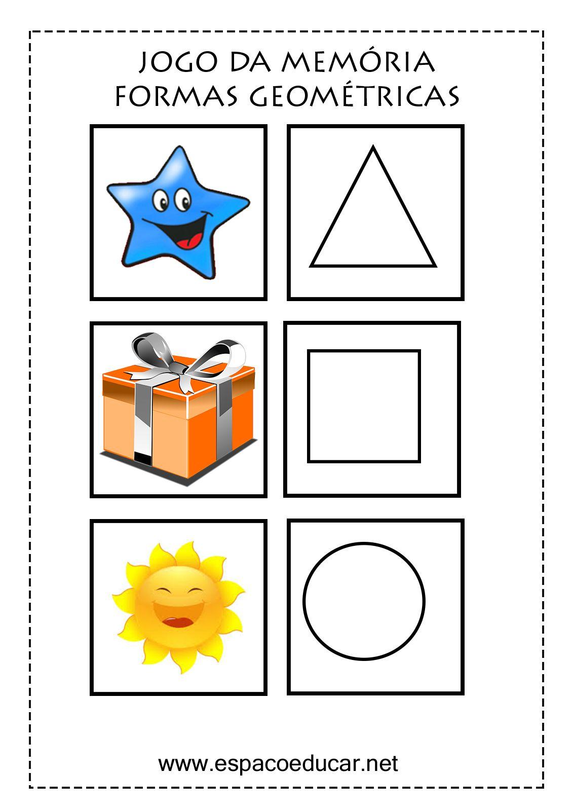 jogo da mem c3 b3ria formas geom c3 a9tricas jogo educativo para