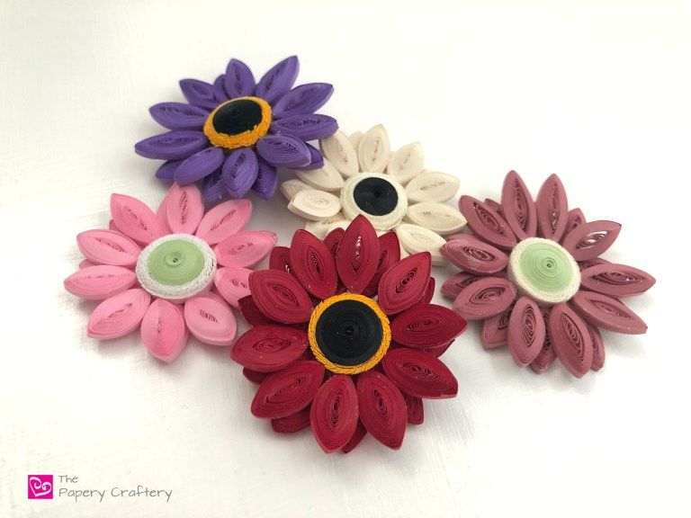 Quilling Paper Gerbera Daisies The Papery Craftery Gerbera Daisy Quilling Daisy Petals