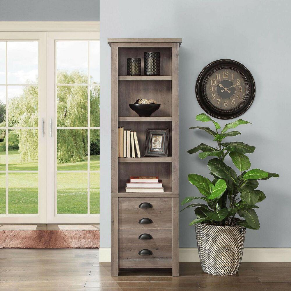 Best Tall Narrow Modern Farmhouse Tower Bookcase 72 Storage Cabinet Rustic Gray Betterhomesgardens 400 x 300