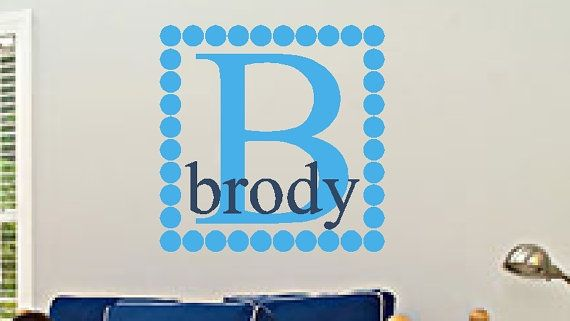 Personalized Vinyl Wall Decal Name and Initial  by VisionsInVinyl, $33.00