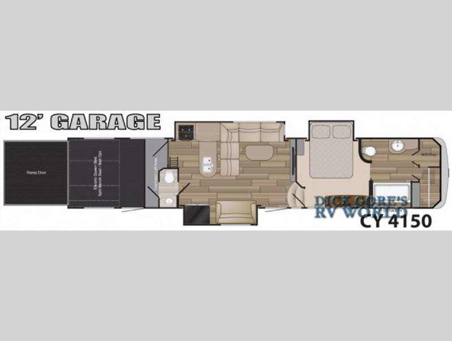 Floorplan 2016 Heartland Cyclone 4150