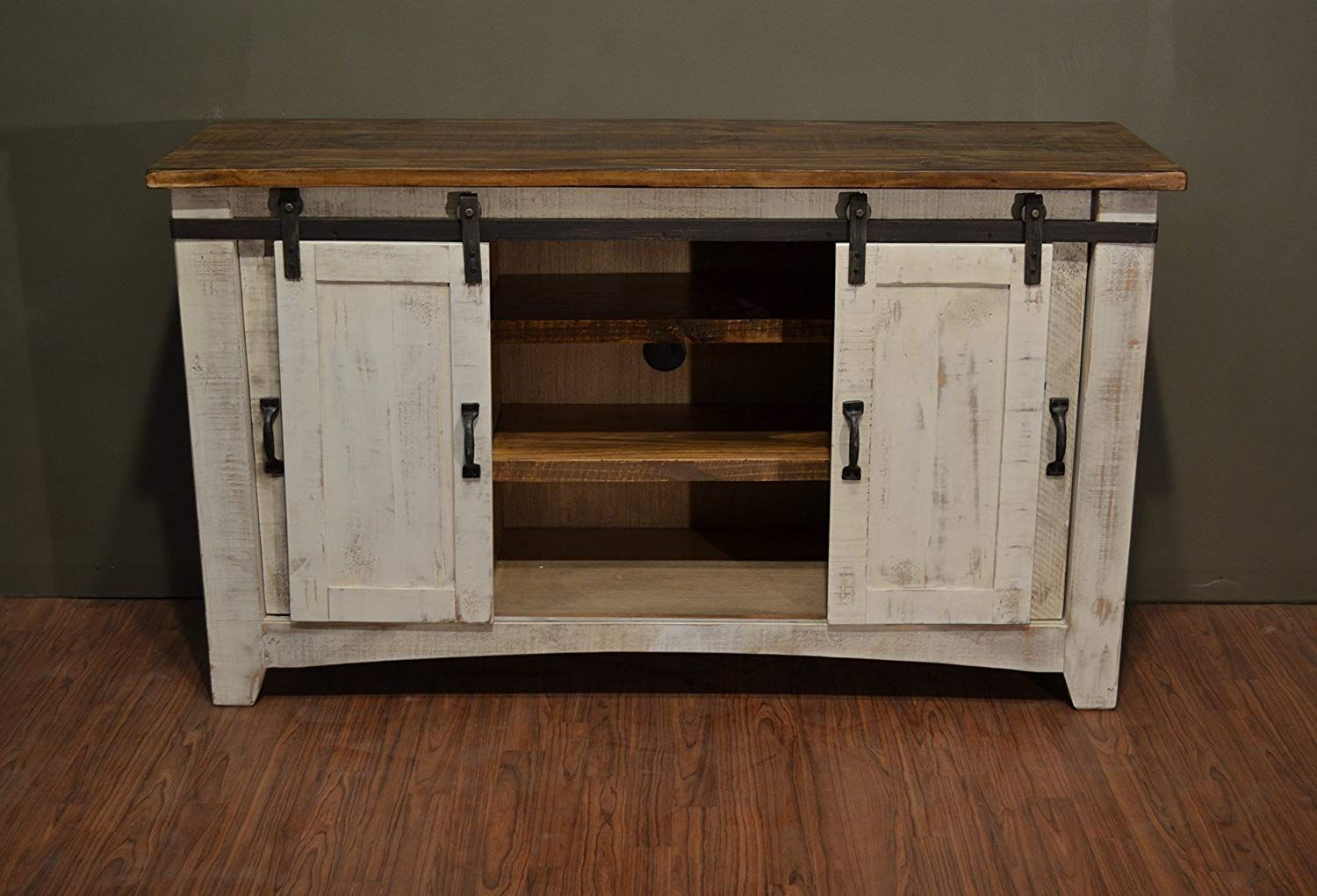 """Crafters and Weavers Granville White 60"""" TV"""