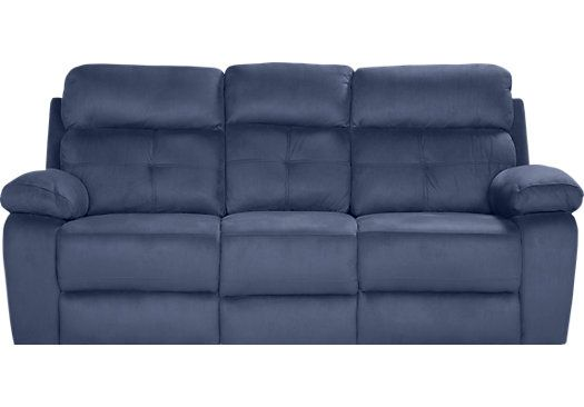Best Corinne Blue Reclining Sofa دکور مبل Reclining Sofa 400 x 300