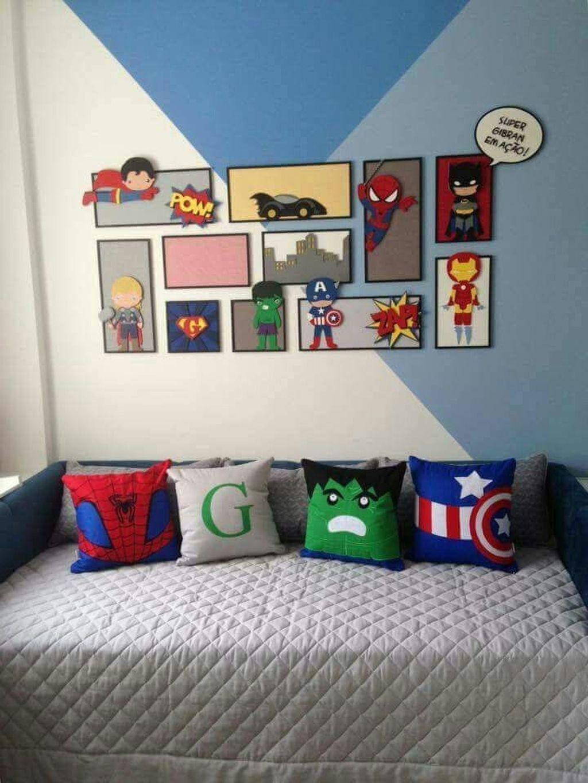 38 Magnificient Superhero Theme Ideas For Boy'S Bedroom images