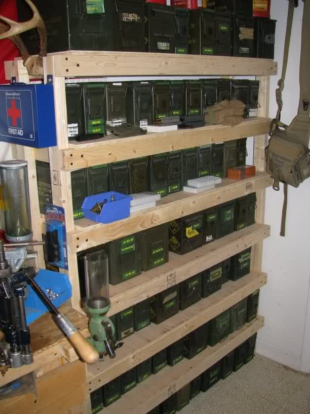 Organized 30 50 Ammo Can Rack Storage Survival