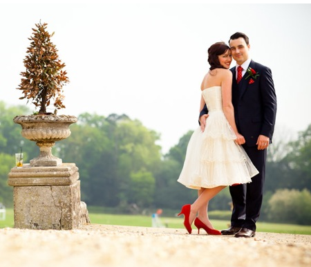 A Retro Fabulous 1950s Style Wedding: Red Trimmed Petticoat ...
