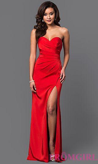 b2410029b3ff Strapless Sweetheart Long Formal Evening Gown   Dress   Strapless ...