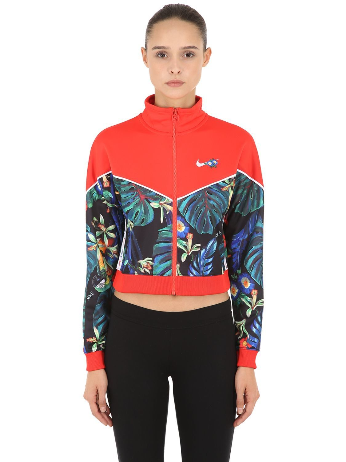 Nike Floral Cropped Track Jacket on Avoir Fashion!   Jackets, Womens  activewear, Track jackets