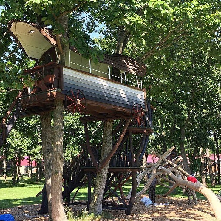 A unique treehouse by treehousecreations_official #treehouseclub