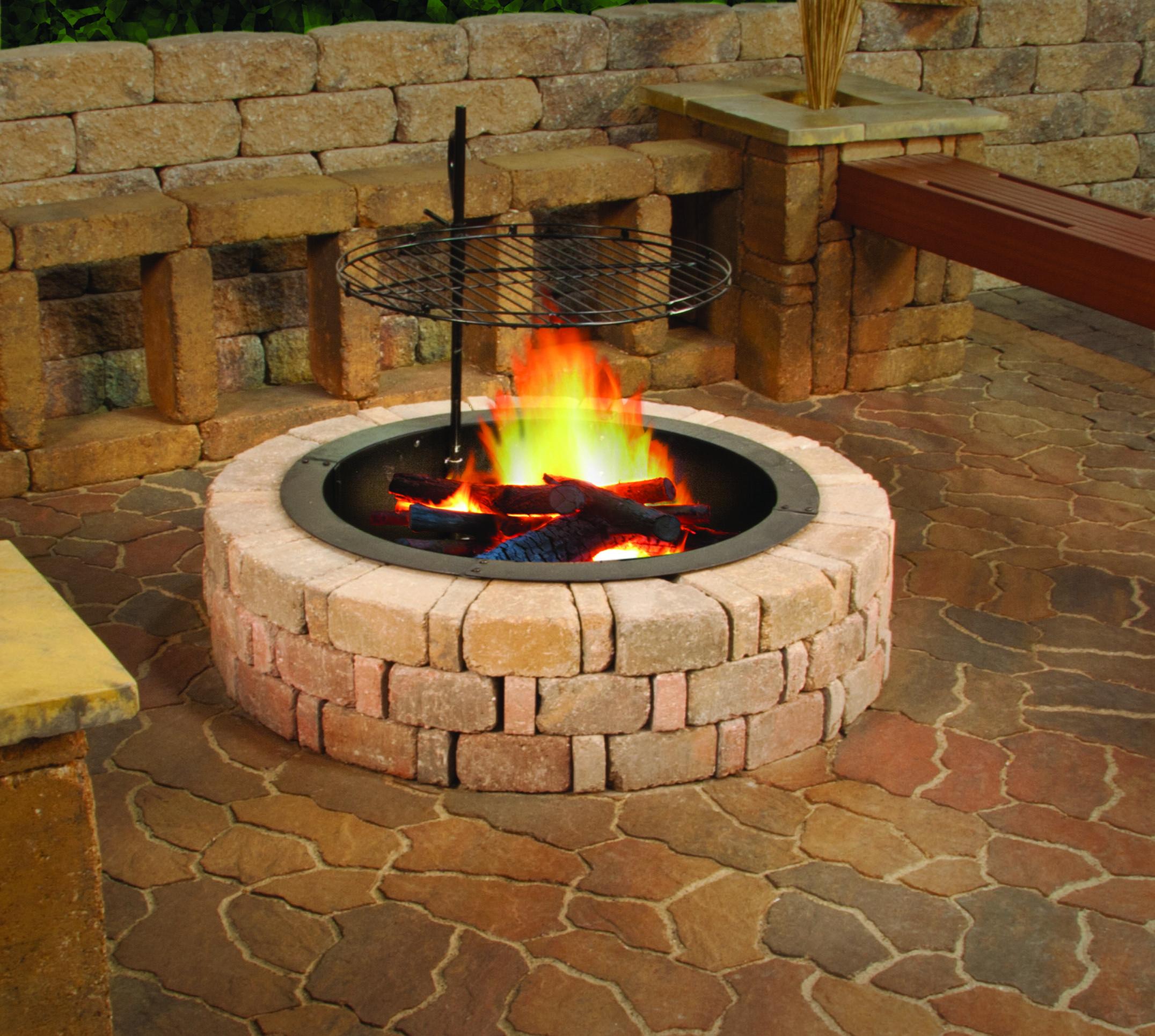 An Excellent Diy Firepit Option Http Www Menards Com Main P 2314778 Htm Utm Source Pinterest Utm Med Patio Landscape Design Outdoor Fire Pit Outdoor Heating