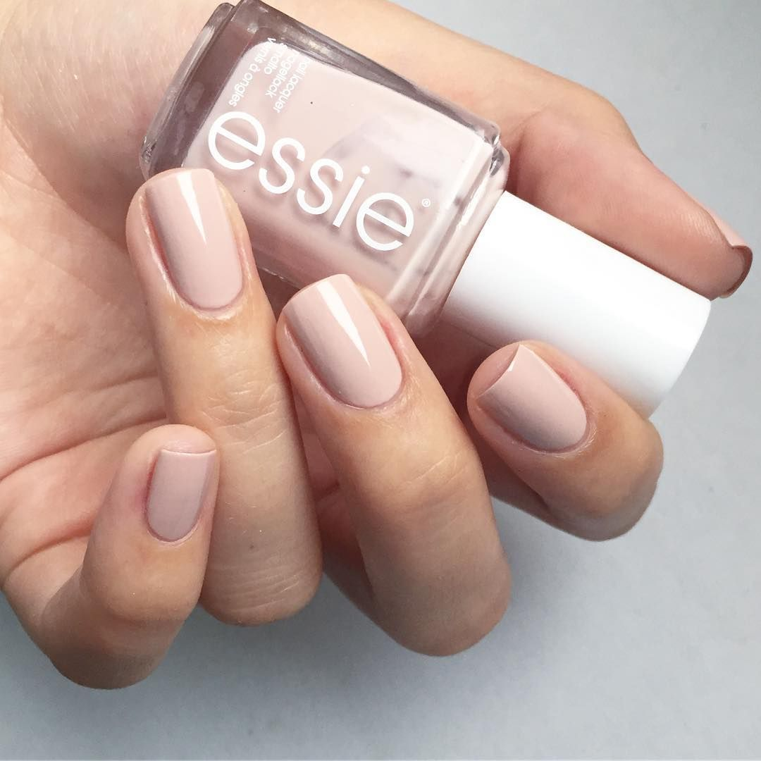 Topless and barefoot. Fresh and beautiful nude nail polish. Essie ...