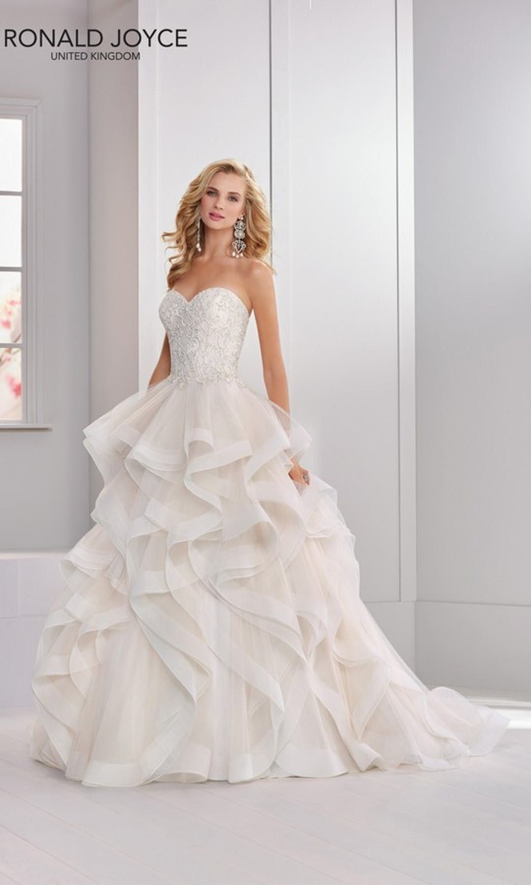 Nellie Wedding Dress 69304 Wedding Dress Ronald Joyce 2018 Collection Confetti Co Uk Ruffle Wedding Dress Ronald Joyce Wedding Dresses Wedding Dresses [ 1800 x 1080 Pixel ]