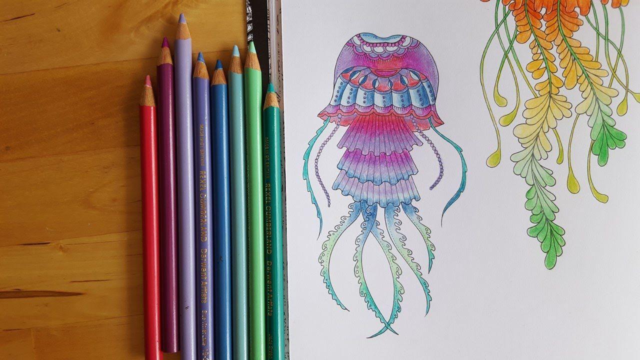 Lost Ocean Speed Colouring Purple Pastel Jellyfish